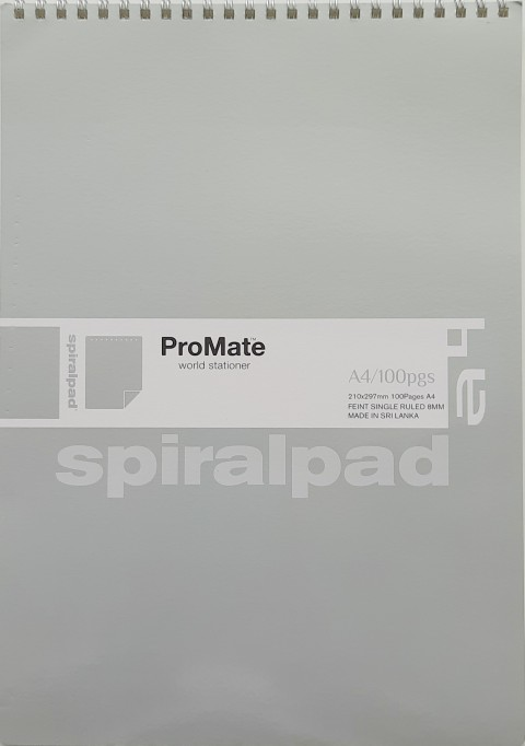 Promate-Spiral-Short-Pad-A4-100pgs